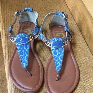 Guess logo denim sandals